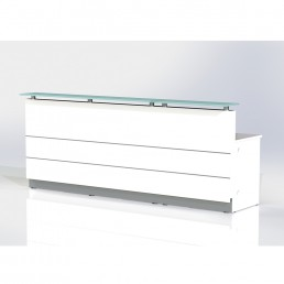 Polaris Straight Reception Counter White W3600*D805*H1120 CODE:FC