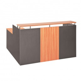 Simple OM Office Reception Counter Cherry / Charcoal W1800mm