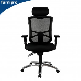 Ultimo High Back Mesh Office Chair with Arms Black