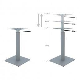 Base Only - Round Meeting Table Metal Height Adjustable