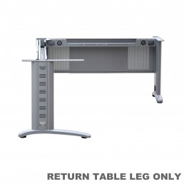Legs Only - Office Desk Return Silver Grey Metal