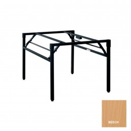 Study Folding Table with Metal Frame & Beech Top 1800x900mm