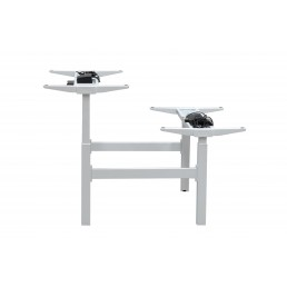 Frame Only - Auto adjustable twin desk frame with one motor for each desk