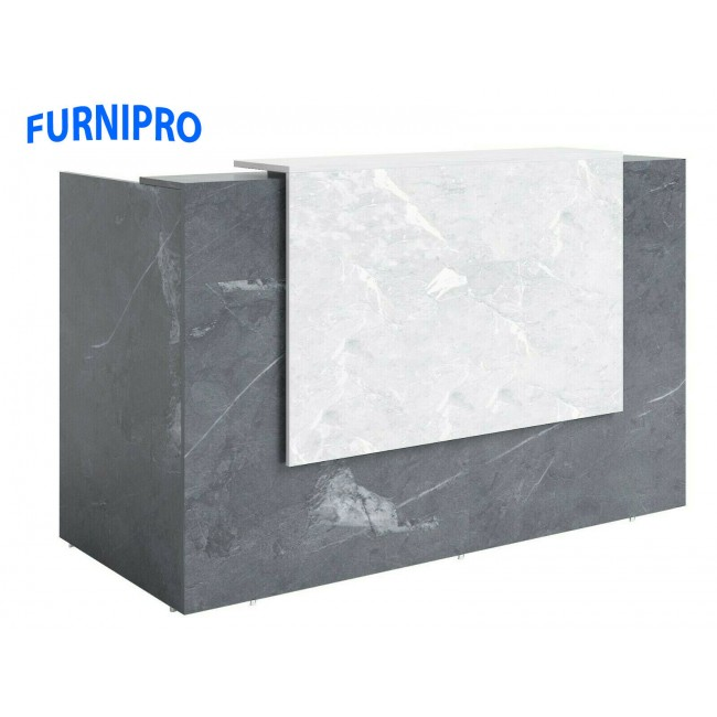 Sorrento Reception Counter Marble / Charcoal colour  1800mm